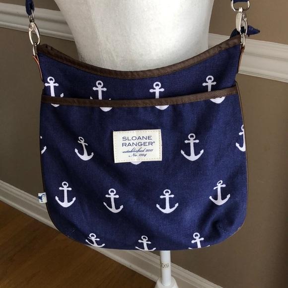 Navy anchor Crossbody bag